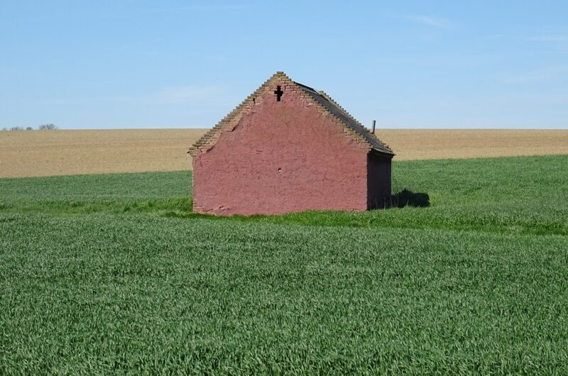 Rotes Haus am Feld